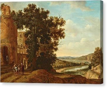 Landscape With The Good Samaritan Canvas Print by Rafael Govertsz Camphuysen