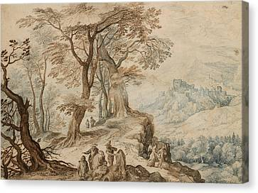Angel Art Canvas Print - Landscape With Tobias And The Angel by Jan Brueghel the Younger