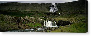 Landscape With Waterfall And Stream Canvas Print by Panoramic Images
