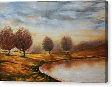 Canvas Print featuring the painting Landscapes by Emery Franklin