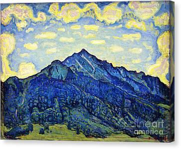 Landschaft In Den Schweizer Alpen Canvas Print by Celestial Images