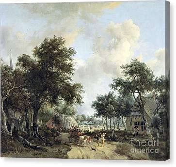 Landschap Met Vrolijk Canvas Print by MotionAge Designs