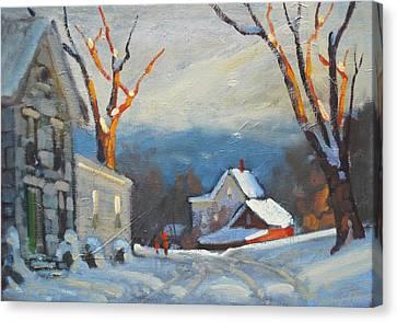 Lanes Boro Canvas Print by Len Stomski