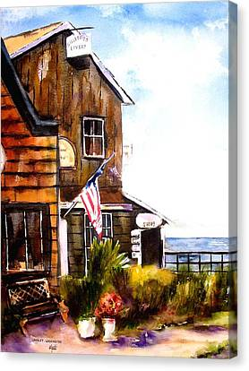 Canvas Print featuring the painting Langley Washington by Marti Green