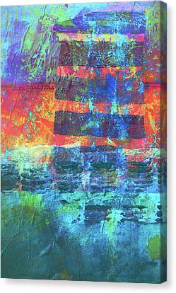 Canvas Print featuring the painting Language by Nancy Merkle