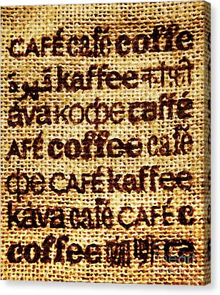 Language Of Coffee Canvas Print by David Millenheft