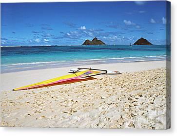 Lanikai Beach Oahu Canvas Print by Thomas R Fletcher