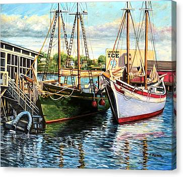 Lannon And Ardelle Gloucester Ma Canvas Print by Eileen Patten Oliver