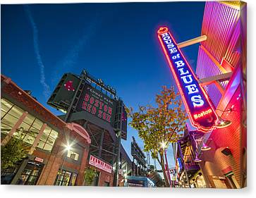 Lansdowne Street Fenway Park House Of Blues Boston Ma Canvas Print by Toby McGuire