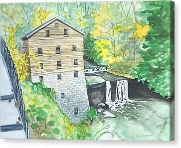 Lanterman's Mill - Mill Creek Park Canvas Print