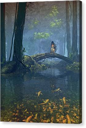 Lantern Bearer Canvas Print