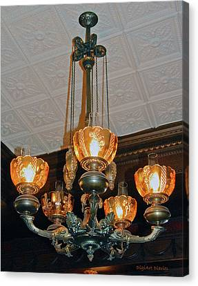 Lantern Chandelier Canvas Print by DigiArt Diaries by Vicky B Fuller