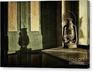 Lantern Shadow Canvas Print by Sari Sauls