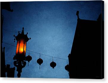 Lanterns- Art By Linda Woods Canvas Print by Linda Woods