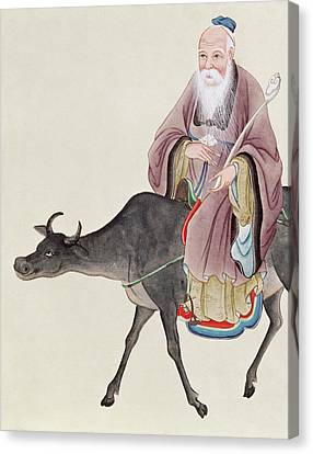 Lao Tzu On His Buffalo Canvas Print by Chinese School