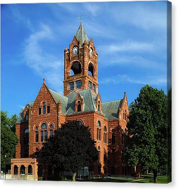 Laporte County Courthouse - Indiana Canvas Print by Mountain Dreams