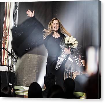 Lara Fabian At The Saban - Sharing The Love Canvas Print by Rebecca Dru