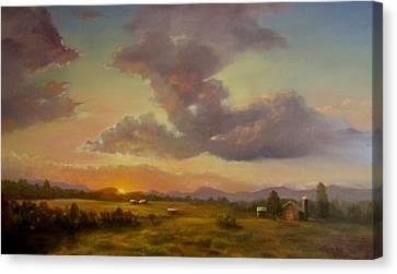 Larch Hill Sunset Canvas Print by Kevin Palfreyman