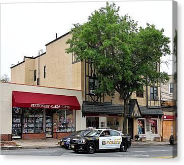 Ny Police Department Canvas Print - Larchmont Police On Patrol by Kurt Von Dietsch