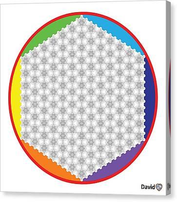Large 64 Tetra Flower Of Life Canvas Print by David Diamondheart