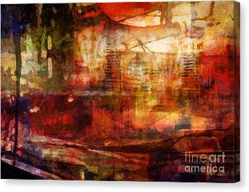 Large Abstract Canvas Print by Lutz Baar