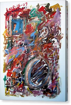 Large Abstract No. 6 Canvas Print by Michael Henderson