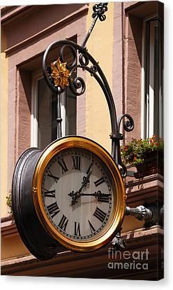 Large Clock Canvas Print by Helmut Meyer zur Capellen
