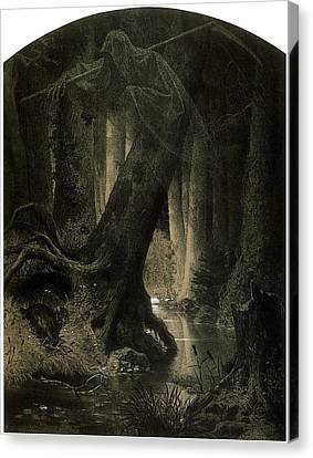 Large Forest Canvas Print by Arthur Grottger