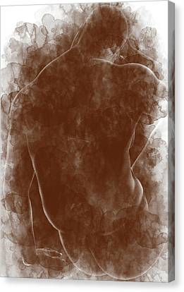 Large Man Backside Canvas Print by Peter J Sucy