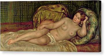 Cushion Canvas Print - Large Nude by Pierre Auguste Renoir