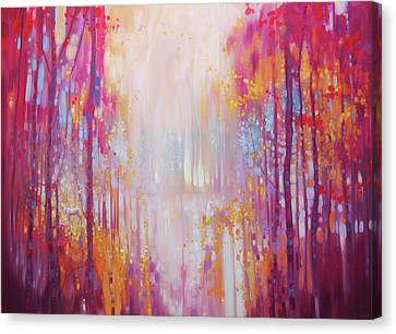 Large Original Oil Painting -hart's Desire - An Autumn Abstract Landscape Canvas Print