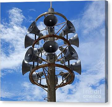 Canvas Print featuring the photograph Large Public Address System by Yali Shi