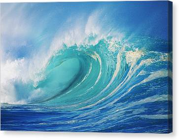Large Wave Curling Canvas Print by Ron Dahlquist - Printscapes