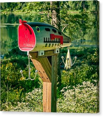 Largemouth Bass Lure Mailbox Canvas Print by Steve Harrington