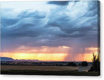 Fort Collins Canvas Print - Larimer County Colorado Sunset Thunderstorm by James BO Insogna