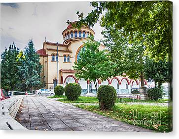 Larissa Old City Church Canvas Print by Jivko Nakev