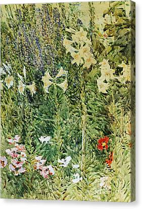 Larkspurs And Lillies, 1893 Canvas Print