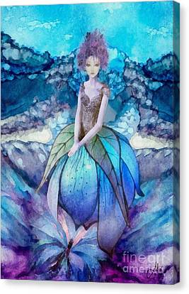 Canvas Print featuring the painting Larmina by Mo T
