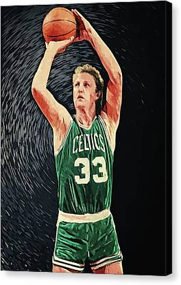 Memorial Hall Canvas Print - Larry Bird by Taylan Apukovska
