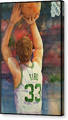 Larry Bird Canvas Print - Larry Legend by Fred Smith