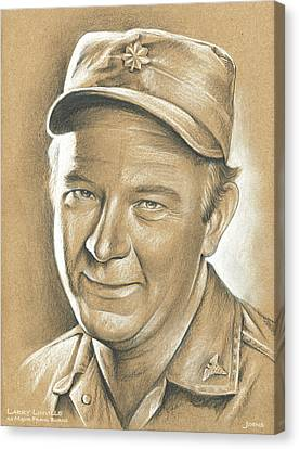 Larry Linville Canvas Print by Greg Joens