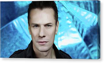 Larry Mullen Jr. By Nixo Canvas Print by Nicholas Nixo
