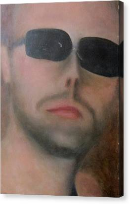 Canvas Print featuring the painting Lars Ulrich by Patricia Cleasby