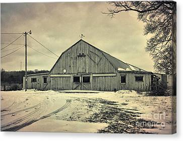 Larsen Road Barn Canvas Print by Joel Witmeyer