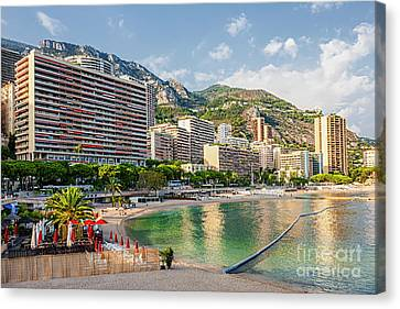Larvotto Beach In Monaco Canvas Print