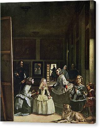 Maid Of Honor Canvas Print - Las Meninas By Diego Velazquez. From by Vintage Design Pics