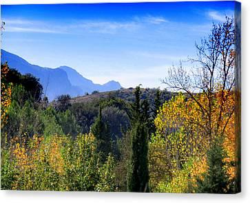 Cortijo Canvas Print - Las Pedrizas Mountains by J Darrell Hutto
