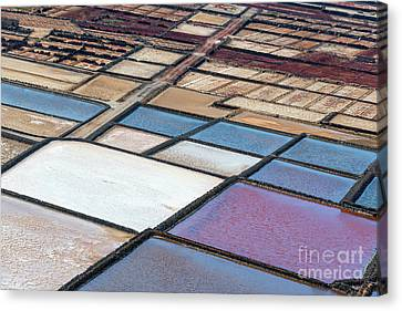 Canvas Print featuring the photograph Las Salinas by Delphimages Photo Creations