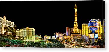 Long Street Canvas Print - Las Vegas At Night by Az Jackson