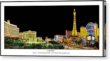 Las Vegas At Night Poster Print Canvas Print by Az Jackson